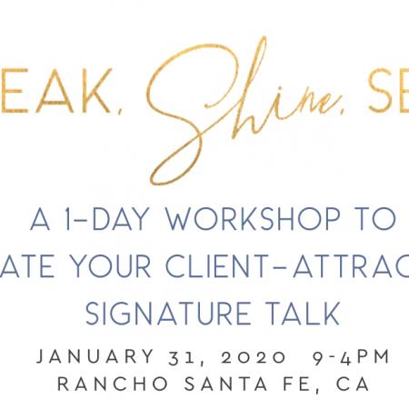 Speak Shine Sell, January 31, 2020
